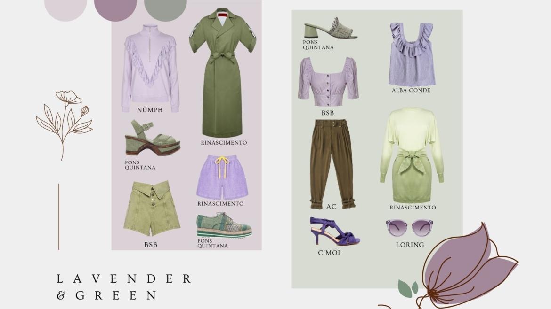 lavender & green